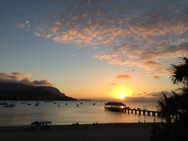 Hanalei Bay Sunset