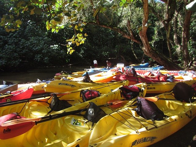 Kayaking on Kauai