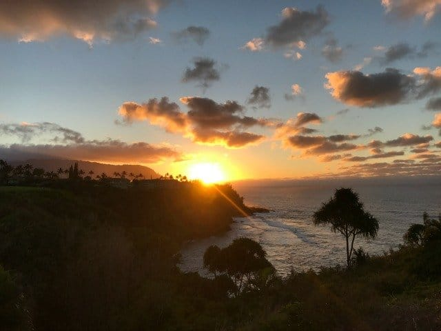 Honu Point Sunset March 2017