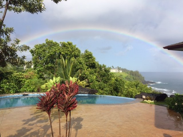 Rainbow by Rick Little - Honu Point - 7-17