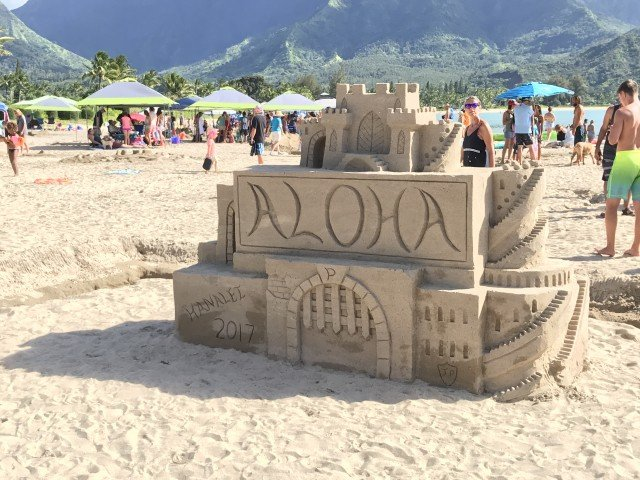 Hanalei Bay Sand Castle Contest 2017
