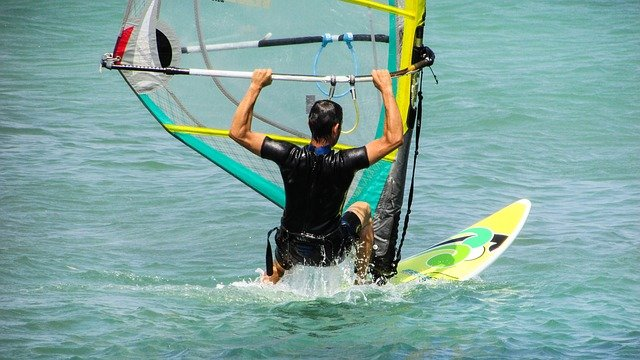 Windsurfing On Kauai-Anini Beach-Hawaii