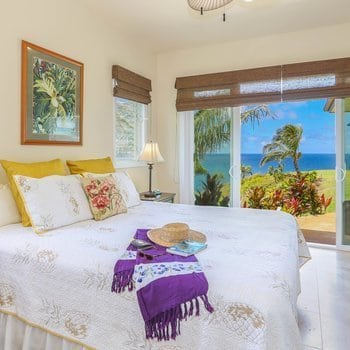 Kauai Vacation Rental at Honu Point - bedroom